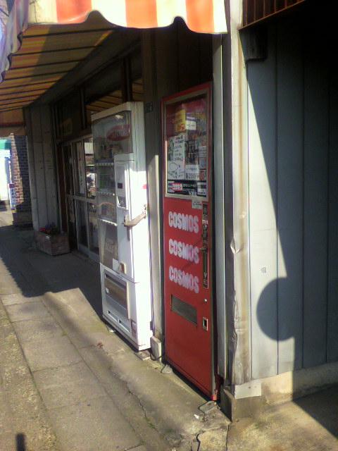 コスモス自販機を訪ねて…