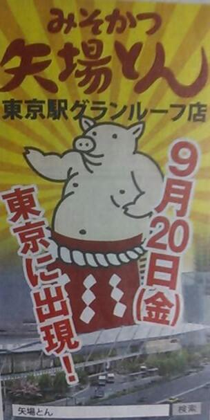 東京駅で味噌カツを。