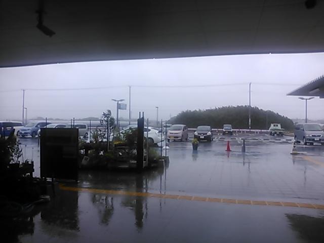 豪雨で水没?