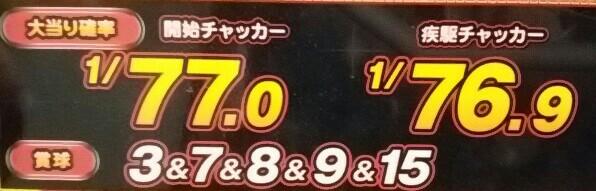 SUPER電役ドラゴン伝説の大当たり確率と賞球数